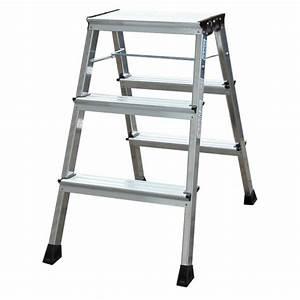 Leiter 3 Stufen : krause rolly doppel klapptritt 2x3 stufen alu leiter ~ Markanthonyermac.com Haus und Dekorationen