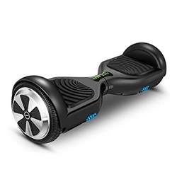 Hoverboard Two-wheel Self-balancing Scooter-VEEKO UL2272 Certified 6.5''All-terrain Aluminum Alloy Wheels,350W Dual Motor for 9.6Km/hr Max Speed and 225lbs Max Weight