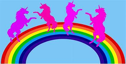 Pink Dancing Rainbow Rainbows Unicorns Purple Medium