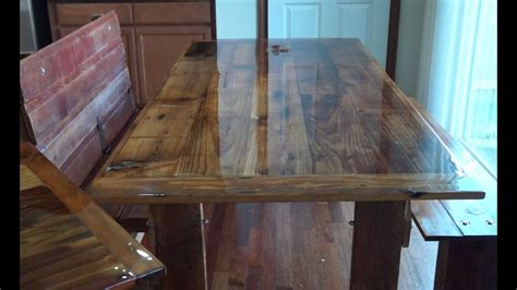 How To Make Barn Wood by How To Build A Barn Wood Dining Table And Bench