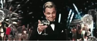 Dicaprio Leonardo Gatsby Gifs Laura Cheers Celebrate