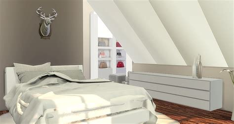 modern attic bedroom  caeley sims sims  updates