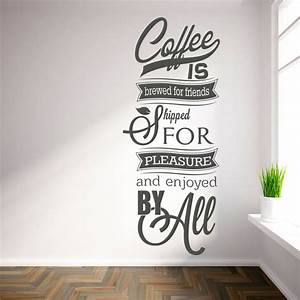 available in numerous sizes wall decals 39coffee is brewed With coffee letters for wall
