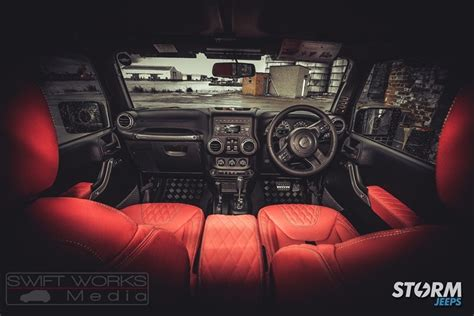 custom jeep interior mods 2016 jeep wrangler 4 door custom mod storm 10 modifiedx