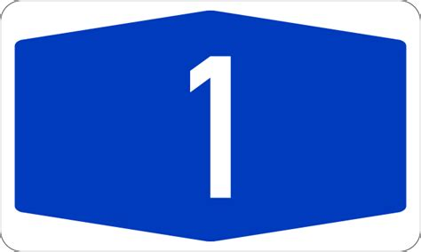Bundesautobahn 1 Number.svg