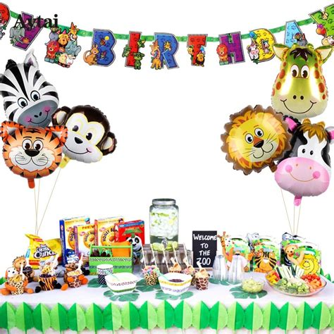 Aytai 7pcs Jungle Party Animal Theme Birthday Safari