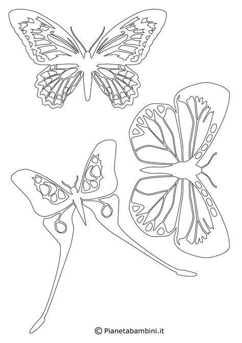 sagome bambini da ritagliare immagini sagome di farfalle da colorare e ritagliare per bambini