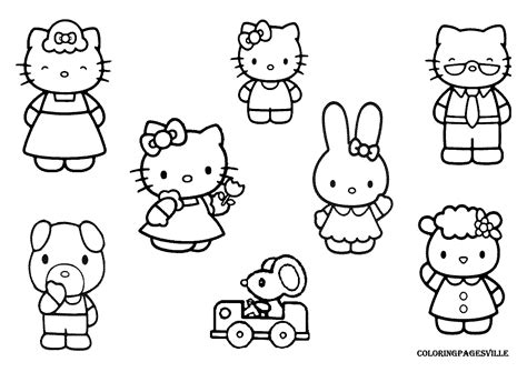 Nanopics Pictures Free Printable Hello Kitty Coloring