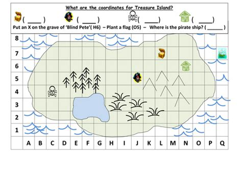 ordinates treasure map ks  mrdhenshaw teaching