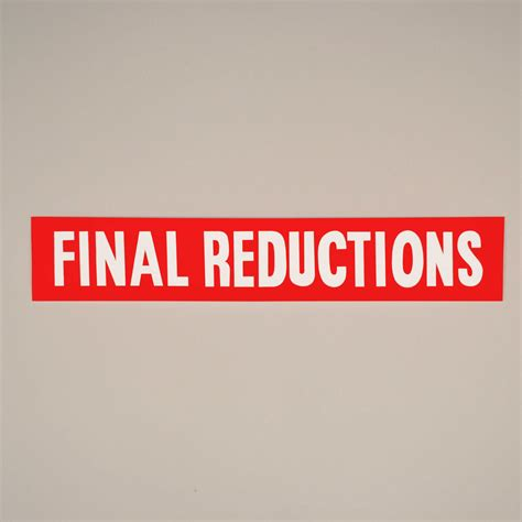 Large Final Reductions Paper Poster - The Display Centre