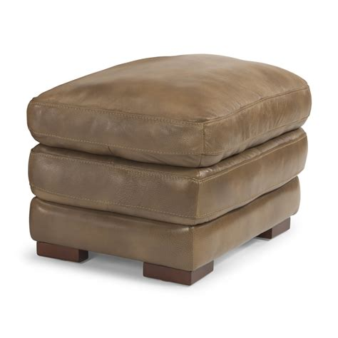 ottoman with nailhead trim flexsteel 1127 08 dylan leather ottoman without nailhead