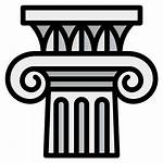 Ionic Architecture Ancient Icon Column Classic Icons
