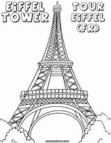 Eiffel Tower Coloring Pages Paris Drawing Easy Water Tour Getdrawings Adult Babel Colorings Fancy Tags Building sketch template