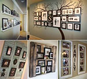 10 cool ways to decorate your walls with family photos With ways to decorate your walls