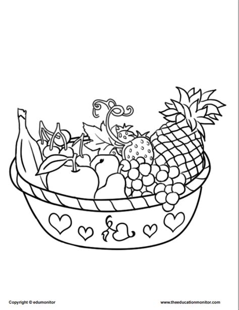 coloring pages  kids learning nutrition