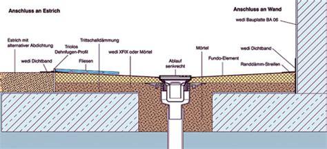 Bodenebene Dusche Gefälle by Bodenaufbau Ebenerdige Dusche K 252 Che Bad Sanit 228 R