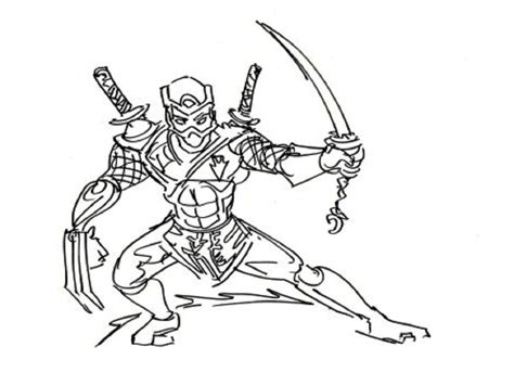 ninja coloring pages bestofcoloringcom
