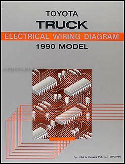 Toyota Pickup Truck Wiring Diagram Manual Original
