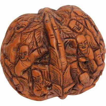 Walnut Shell Carved Chinese Hand Carving Buddhas