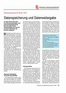 Einverständniserklärung Datenweitergabe Arzt : datenschutzrecht f r rzte teil 6 datenspeicherung und ~ Themetempest.com Abrechnung