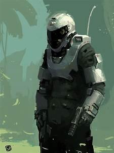 Futuristic Warrior, armor, helmet, military, future ...