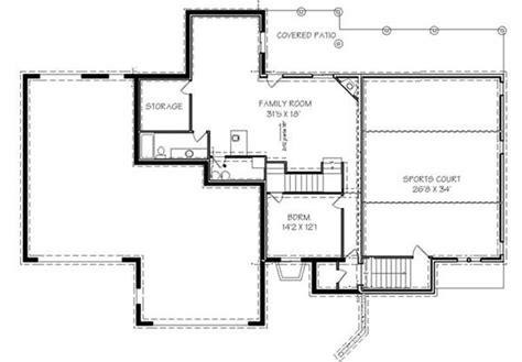 bedroom luxury house plan  indoor sports court