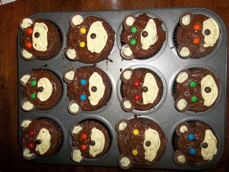 bear cupcakes  animal cake baking food decoration