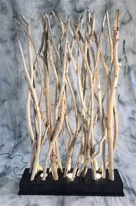 Paravent Clair En Petites Branches De Bois Flott