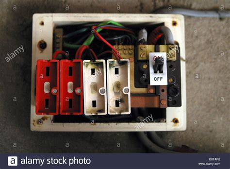 Burnt Breaker Fuse Box by Style Consumer Unit Electrical Wire Fuse Box Stock