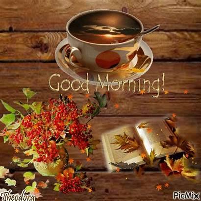Morning Coffee Autumn Gifs Fall Picmix Gf