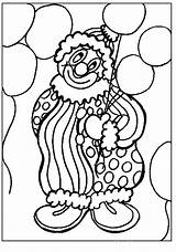 Coloring Pages Clowns Clown sketch template