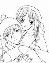 Coloring Anime Pages Couple Romantic Couples Kissing Printable Sheet Getcolorings Sky sketch template