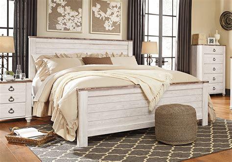 whitewash bedroom furniture willowton whitewash king panel bed lexington overstock 13863   AF B267 Willowton King Panel Bed 2