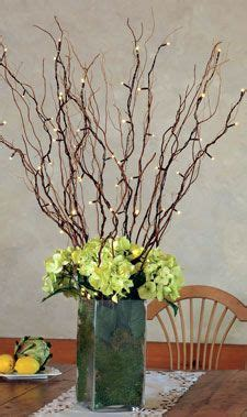 floral arrangements  twigs battery operated natural