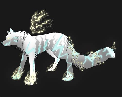 Lightning-electric Air Shard Wolf (leland-adopts) By