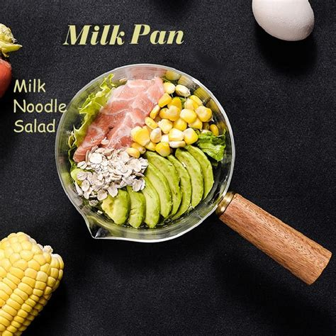 glass cooking pot  wooden handle  soup  noodles food gas stove cookware ebay