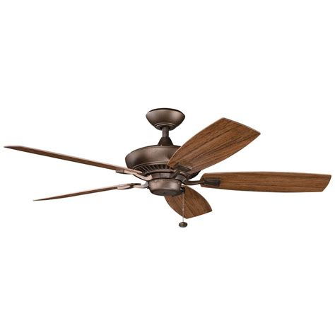 kichler ceiling fan in weathered copper finish 310192wcp