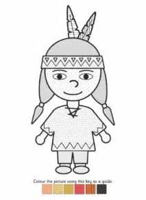 Native American Boy Coloring Page