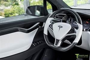 Tesla Gloss Carbon Fiber Steering Wheel – T Sportline - Tesla Model S, 3, X & Y Accessories