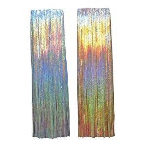 amazon com christmas eve tinsel icicles holographic 19 quot copper home kitchen
