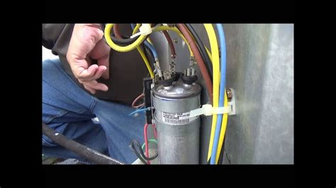 How Change Air Conditioner Capacitor Youtube