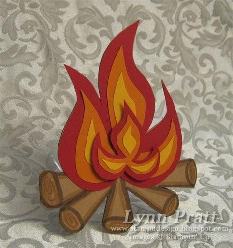 stamp  design bonfire card  template