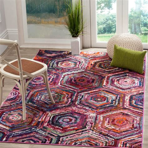 Safavieh Pink Rug by Safavieh Monaco Pink Multi 8 Ft X 11 Ft Area Rug Mnc224d