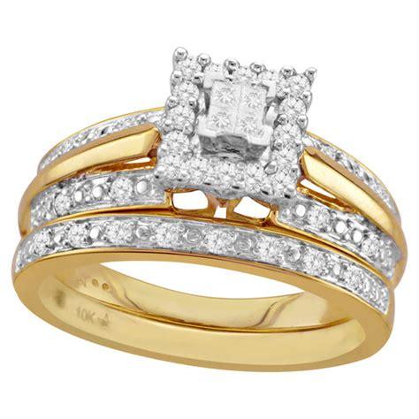 yellow gold bridal walmart