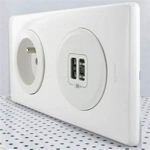 Goulotte Electrique Avec Prise : mettez des prises usb dans vos murs maison et domotique ~ Mglfilm.com Idées de Décoration