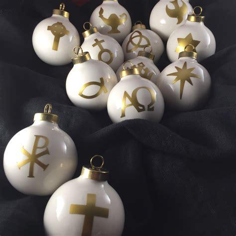 hollow glass l chrismon ornaments set of 12 christian by fabulousfancypants