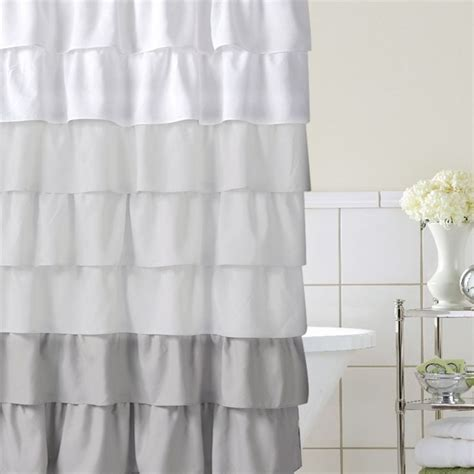 home classics 174 ruffle ombre fabric shower curtain