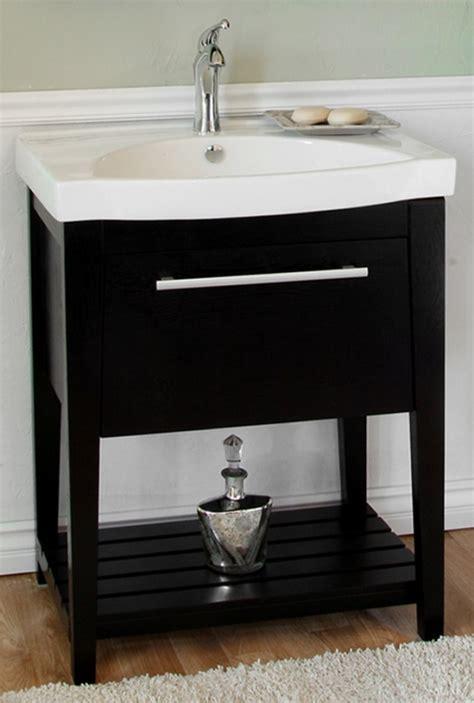 black single sink bathroom vanity