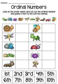 ordinal worksheet images ordinal numbers number