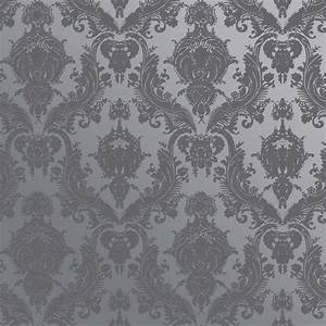 A tribute to vintage flocked wallpaper, this textured ...